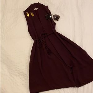 Burgundy Aritzia Wilfred Mini Dress